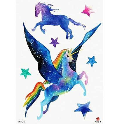 Flor brazo tatuaje pegatinas color pony romántico duradero ...