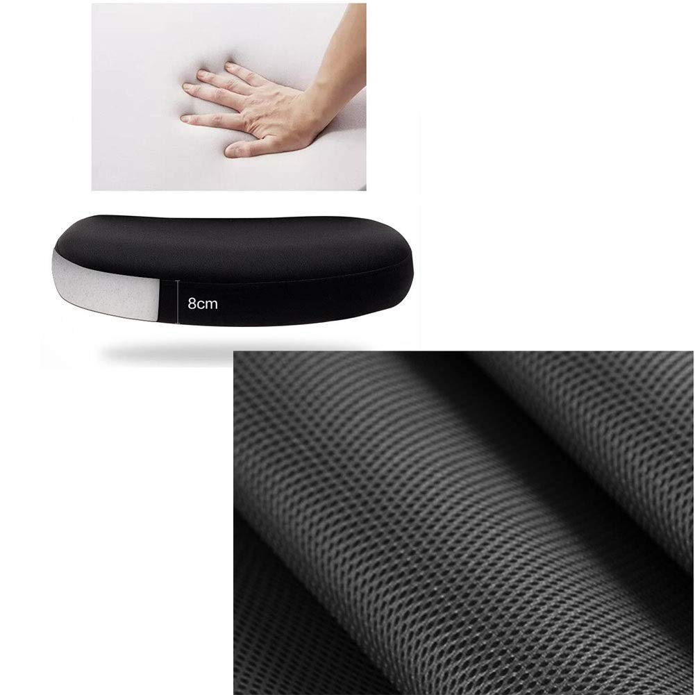 WYYY stolar kontorsstol roterande räcke bågform ergonomisk nätstol verkställande konputer stol andningsbar hållbar stark (färg: Vit) svart
