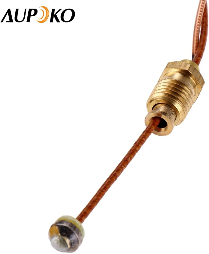 Aupoko Juego de Calentador de Gas para Patio y termopar y Interruptor antiinclinación, Calentador de Gas para Patio, Calentador de habitación y ...