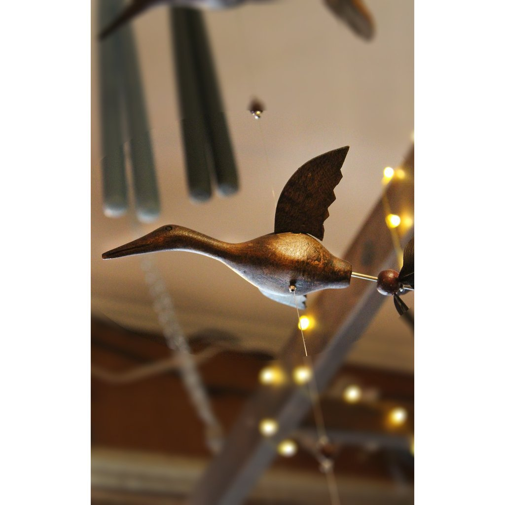Wooden Animal Hanging Wind Spinners - Dolphin