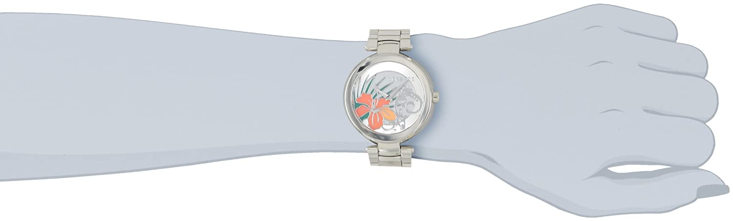 Versace Women s I9Q99D1HI S099 Mystique Stainless Steel White Silver Sunray Dial Watch