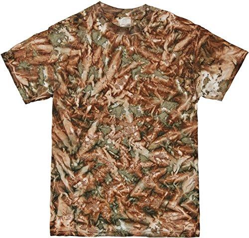 Colortone Unisexe T-shirt à manches courtes T-shirt 100% coton teints à la main Motif camouflage militaire