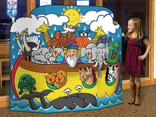 4 ft. Noah's Ark Standee Standup Photo Booth Prop Background Backdrop Party Decoration Decor Scene Setter Cardboard -