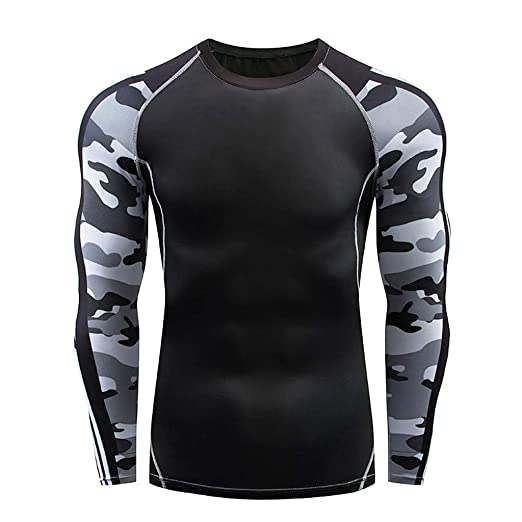 Allywit-Mens Sports Running Set Compression Shirt + Pants Skin-Tight Long  Sleeves Quick 5e985d591d19