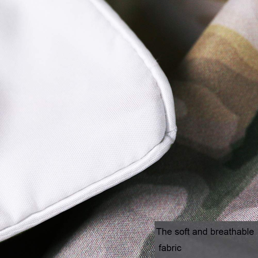 Unicorn Bedspread 3 Piece Duvet Cover Sets Queen Size Rose Auroma 3D Unicorn Bedding Set Duvet 3D Flower Bedding