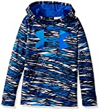 Under Armour Girls' Armour Fleece Big Logo Novelty Hoodie,Midnight Navy /Lapis Blue, Youth X-Small
