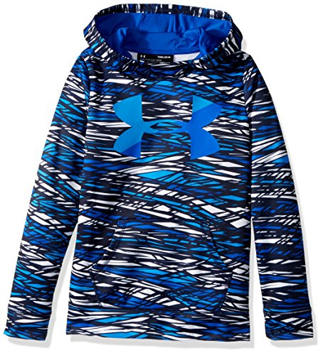 Under Armour Girls' Armour Fleece Big Logo Novelty Hoodie, Midnight Navy/Mako Blue, Youth X-Large (Big Logo Fleece Hoodie)
