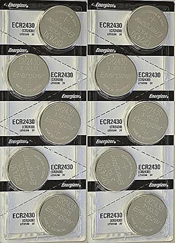 1 X 10x Energizer CR2430 (ECR2430BP) Lithium Coin 3v Button Cell battery