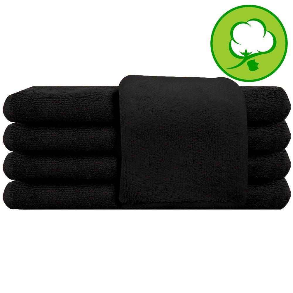 Black Salon Towel 100% Cotton 16''x27'' - Hand Towel- 3 DOZEN- 36 Pack by A&H