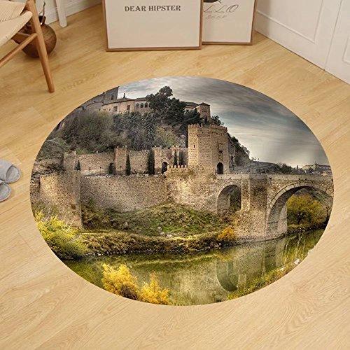 Gzhihine Custom round floor mat Toledo Spain by Gzhihine