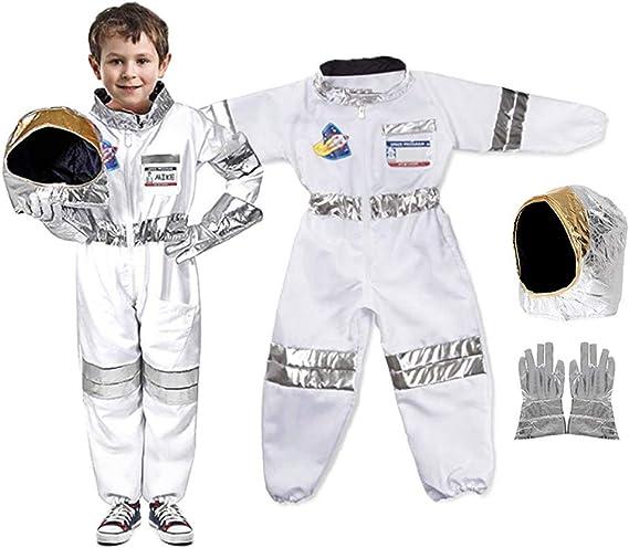JOYKK Traje de Astronauta para niños pequeños Mono Espacial Juego ...