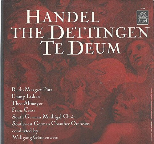 Gonnenwein / Southwest German Chamber: Handel The Dettingen Te Deum LP VG++/NM