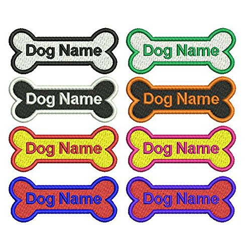 Graceful life Custom Dog Name Patch Embroidered