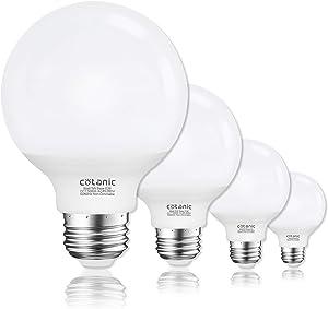 Vanity Light Bulb 5000K Daylight,G25 LED Globe Light Bulbs for Bathroom Vanity Mirror,Cotanic E26 Medium Base,5W 60W Incandescent Equivalent,500LM,Non-dimmable,4 Pack