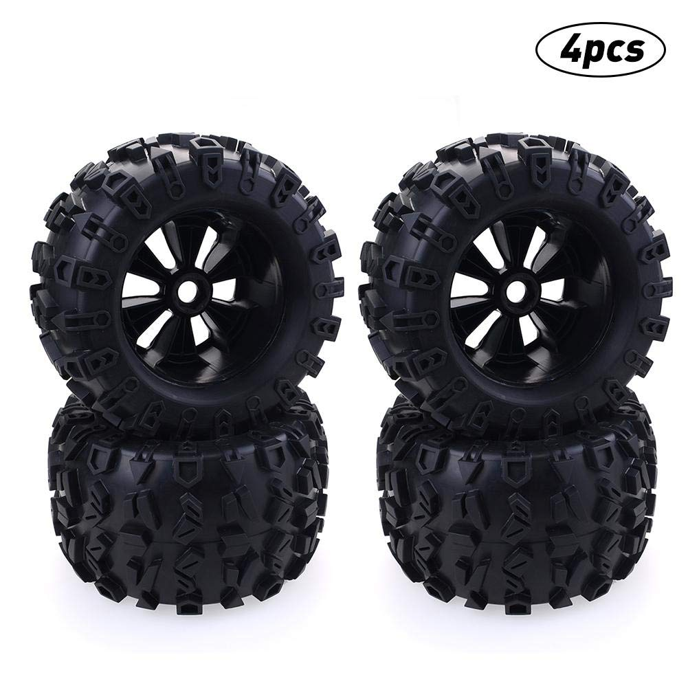 Macddy 17mm Hex Wheel 170mm Tires for RC 1/8 Monster Truck HPI Savage Flux HSP by Macddy