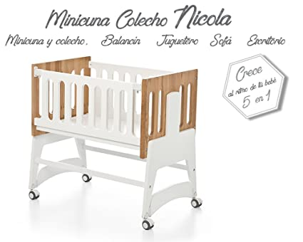 Bolin Bolon Colección 2018 Minicuna colecho Nicola color blanco-natural