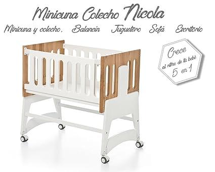 Bolin Bolon Colección 2018 Minicuna colecho Nicola color blanco-natural