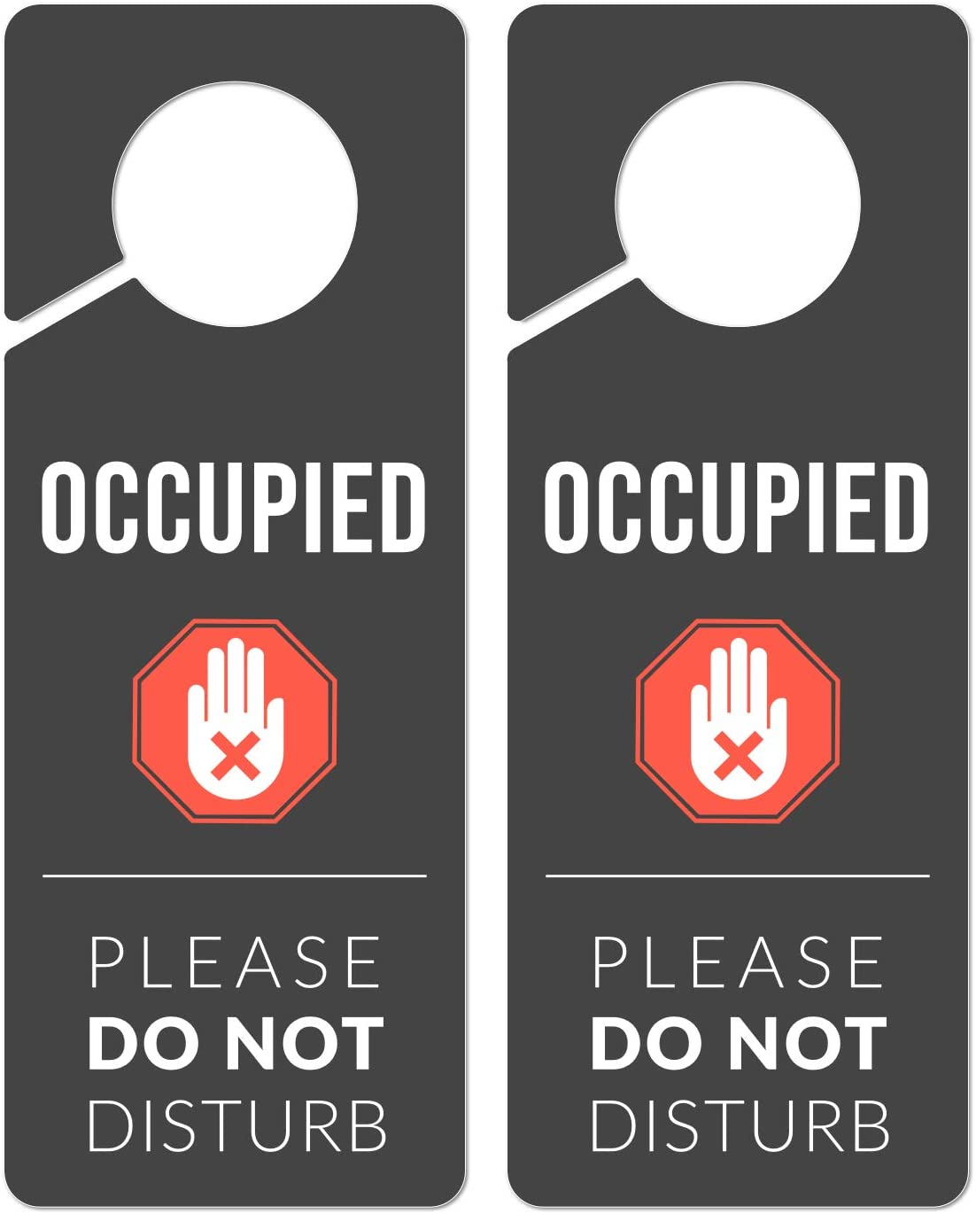 Occupied Sign for Bathroom Door, 2 Pack (Printed on Both Sides), 9.3″x3.5″ PVC Plastic, in Use Sign, Popping Signs, Occupied Hanging Sign, Bathroom Occupied Signs for Door