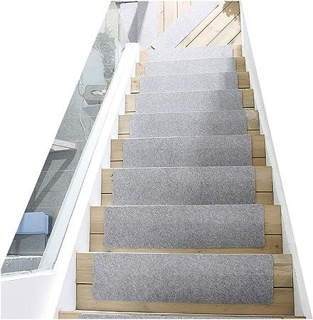 Gyl Alfombras para escaleras Pedal de Escalera, Suave Antideslizante Interior Absorbente Piso de Madera Maciza Pisada de Escalera Alfombra/Cubierta/Almohadilla Alfombras para escaleras: Amazon.es: Hogar