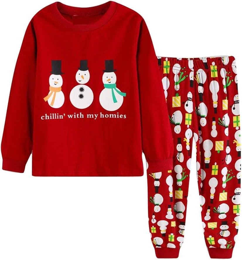 2 piezas Disfraz Navidad Bebe Niño,Navidad y año nuevo Manga Larga Tops y Pantalones,Navidad Regalo para Niños 2-7 años/Muñeco de nieve rojo/6Y/120cm