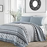 Stone Cottage 221599 Bexley Quilt Set,Blue,King offers