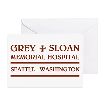 Amazon cafepress grey sloan memorial hospital greeting cards cafepress grey sloan memorial hospital greeting cards greeting card note card birthday m4hsunfo