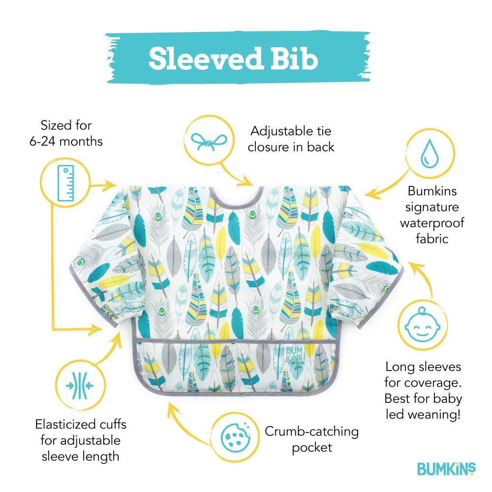 6-24 Months Urban Bird Bumkins Waterproof Sleeved Bib