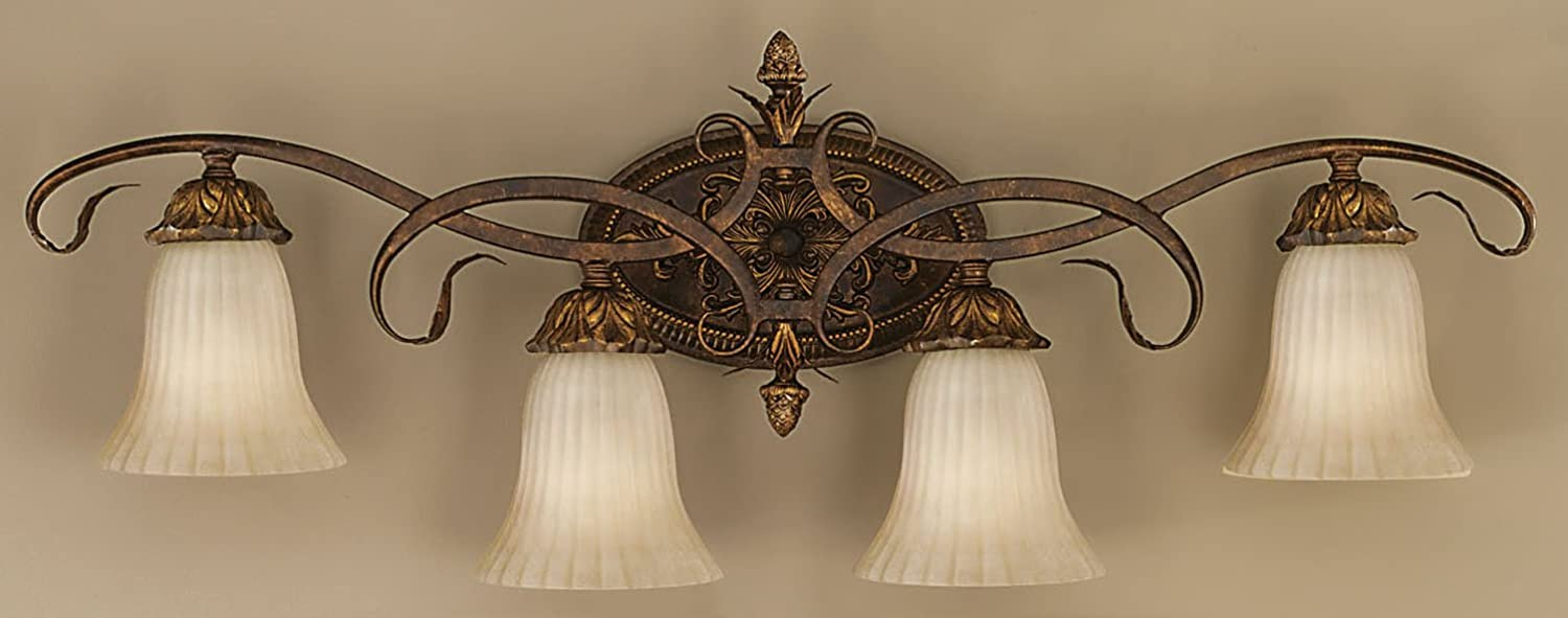 Murray Feiss VS10904-ATS Sonoma Valley 4-Light Vanity Fixture, Aged Tortoise Shell