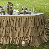 Tiered Ruffle Burlap Table Skirt