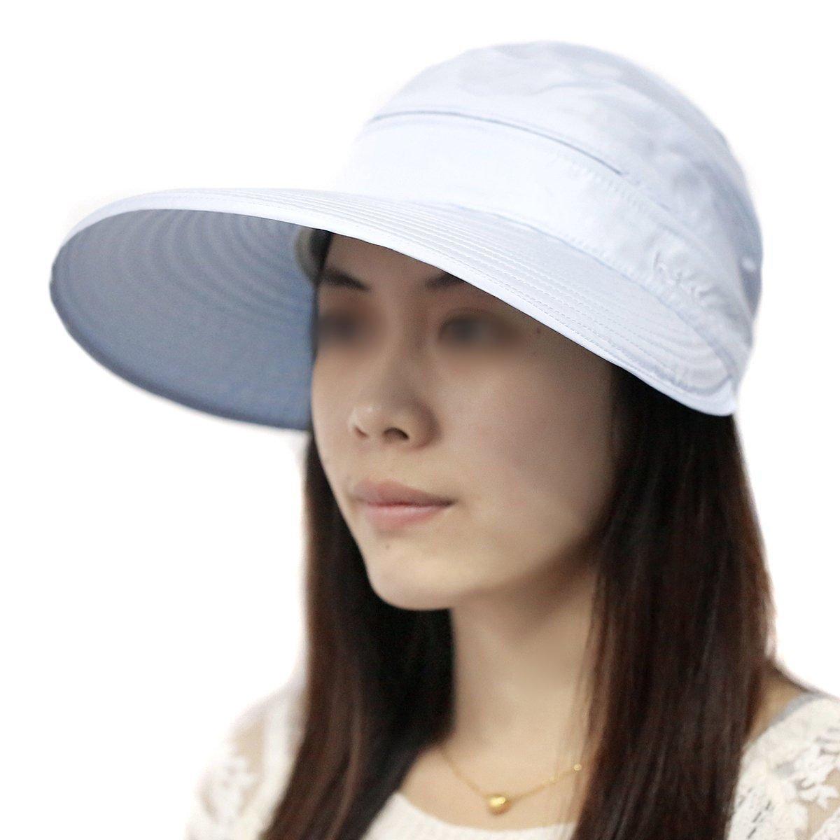 Chapeau de Soleil Anti UV Femme Pliable Loisirs Casquette Visi/ère de Tennis Baseball Bleu