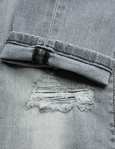 Donna Jeans Denim Zip Grigio Luz Skinny Replay grey Back gv6qwXSnx