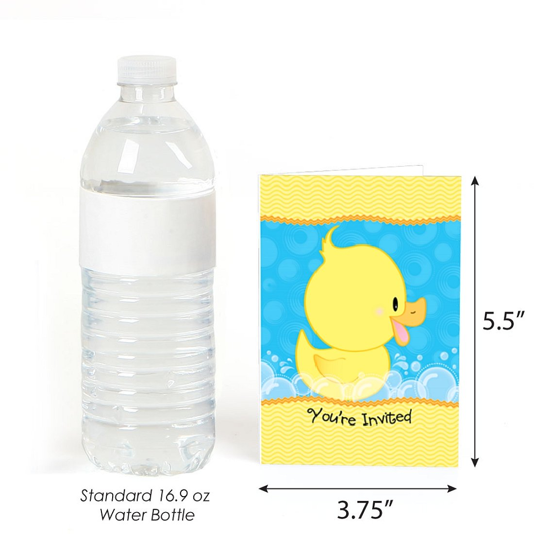 Amazon.com: Big Dot of Happiness Ducky Duck - Fill-In Baby Shower or ...