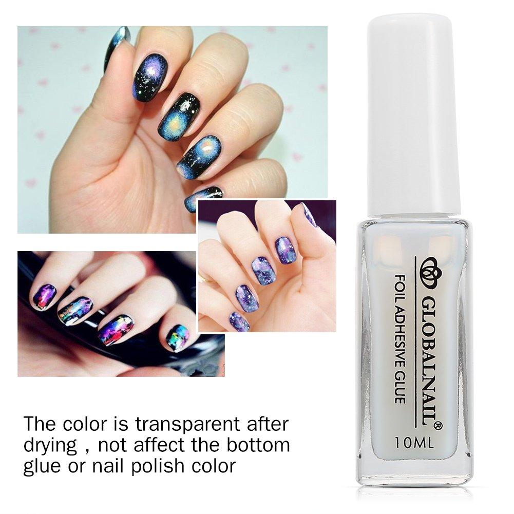 Amazon.com : Clear Nail Art Star Glue Transfer Paper Adhesive ...