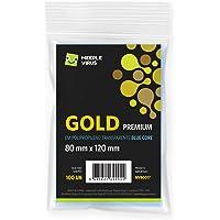 Sleeves Gold Premium 80 x 120 mm Blue Core - Meeple Virus