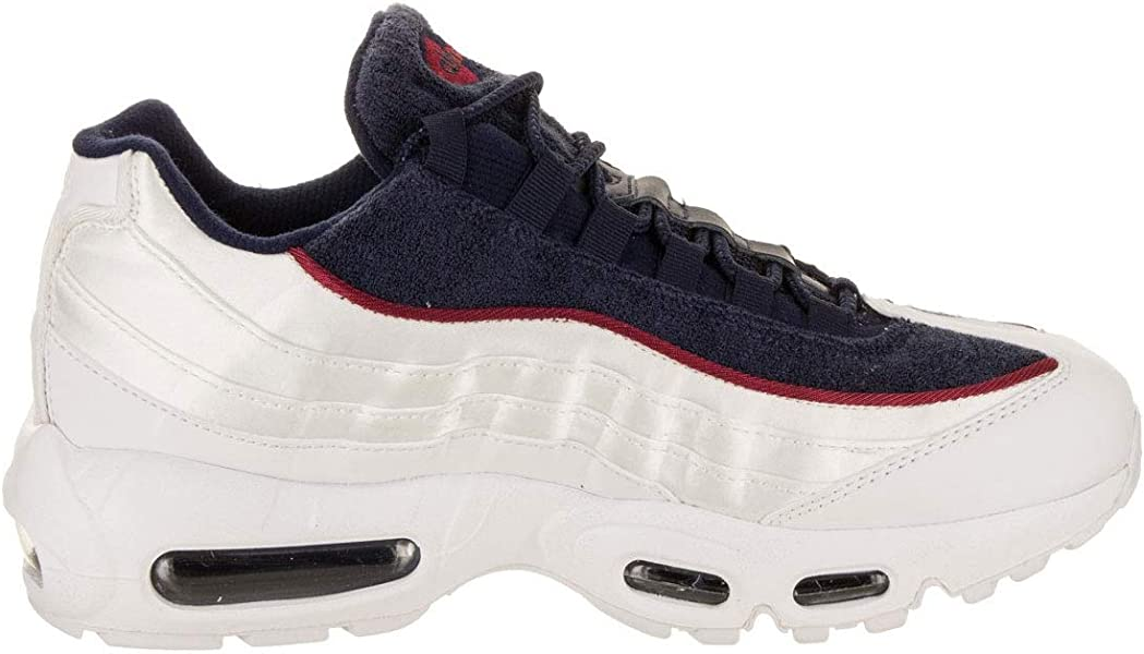 ee1943037d107 Nike Women s Air Max 95 LX White Blackened Blue Red Crush AA1103-100