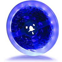 Ruban Led 12v SMD 3528 Bande Led 5m Violet 300 Leds, Ultraviolet Led Strip Light Black Light Idéal pour Interieur Chamber Bureau