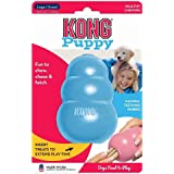 KONG - Puppy Toy - Natural Teething Rubber - Fun to Chew, Chase and Fetch - for Large Puppies (Colour May Vary)