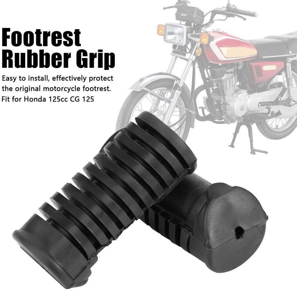 Heitune Motorrad Vorne Fußrasten Platte Fußrastengummi Pad Grip Abdeckung Kompatibel Mit Honda 125cc Cg 125 Küche Haushalt