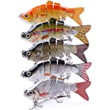 VTAVTA 5.51inch Bass Fishing Lures Freshwater Fish Lures Swimbaits Slow Sinking Gears Lifelike Lure Glide Bait Tackle…