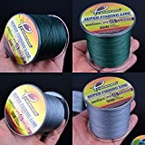 BeesClover 300M 500M 1000M PE Fishing Line Strong Braided Lines Strands Wire 8lb 100LB ,Strength:8LB;Color:Dark Green;Length:500M