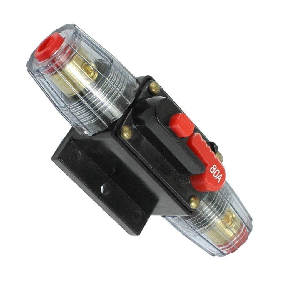 30/A Rkurck Schutzschalter 100/A Solarwechselrichter Systemschutz 40/A 50/A 60/A 24/V DC Inline-Sicherungsblock f/ür Auto-Audio 150/A Sicherungshalter 12/V 20/A 80/A