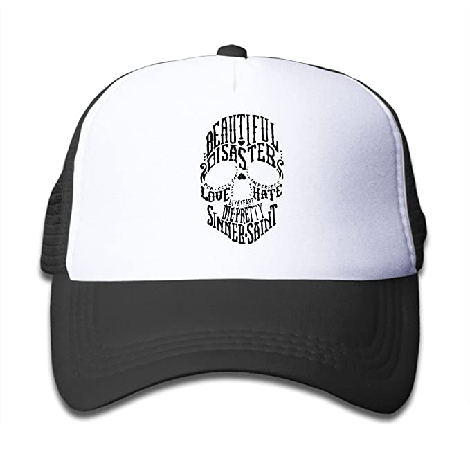 5d37fd08753 Children Beautiful Disater Love Hate Die Pretty Sinner Saint Skull Black  Sports Snapback Hat Cool Hat