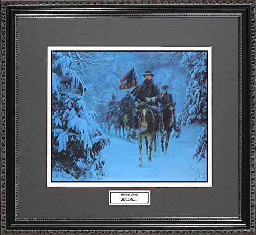 Mort Kunstler THE GHOST COLUMN Framed Wall Art Civil War Print, 18x16 - Paintings Civil War