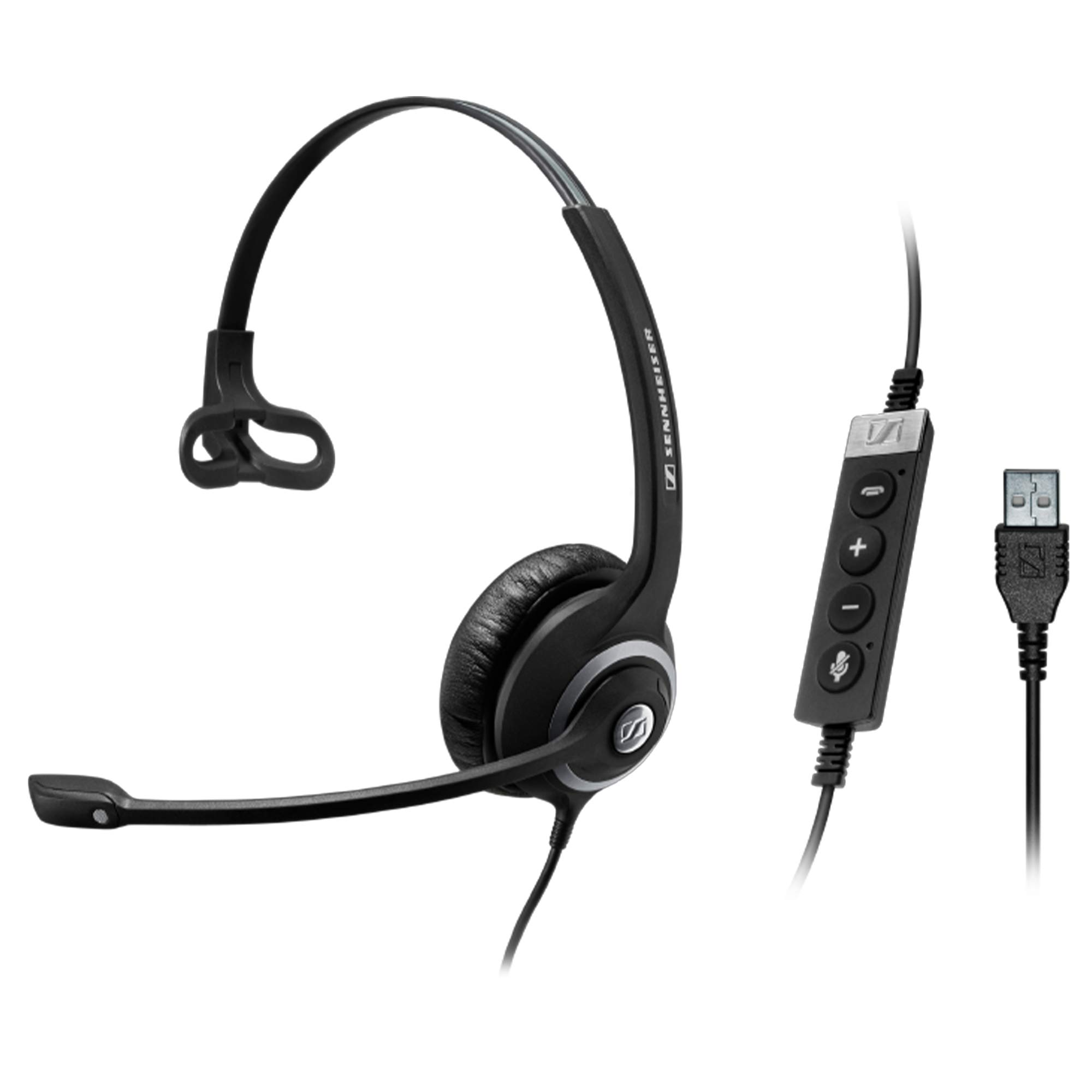 Sennheiser SC 230 USB CTRL II (506480) - Double-Sided Business Headset   For Unified Communications, Softphone, and PC   with HD Sound, Noise-Cancelling Microphone (Black) by Sennheiser Enterprise Solution