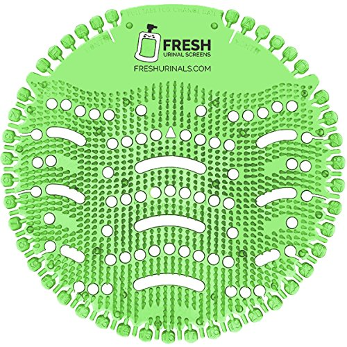Urinal Screen Deodorizer (10 Pack) - Scent Lasts for Up to 5000 Flushes - Anti-Splash & Odor Neutralizer - Ideal for Bathrooms, Restrooms, Office, Restaurants, Schools - Green Mint Fragrance