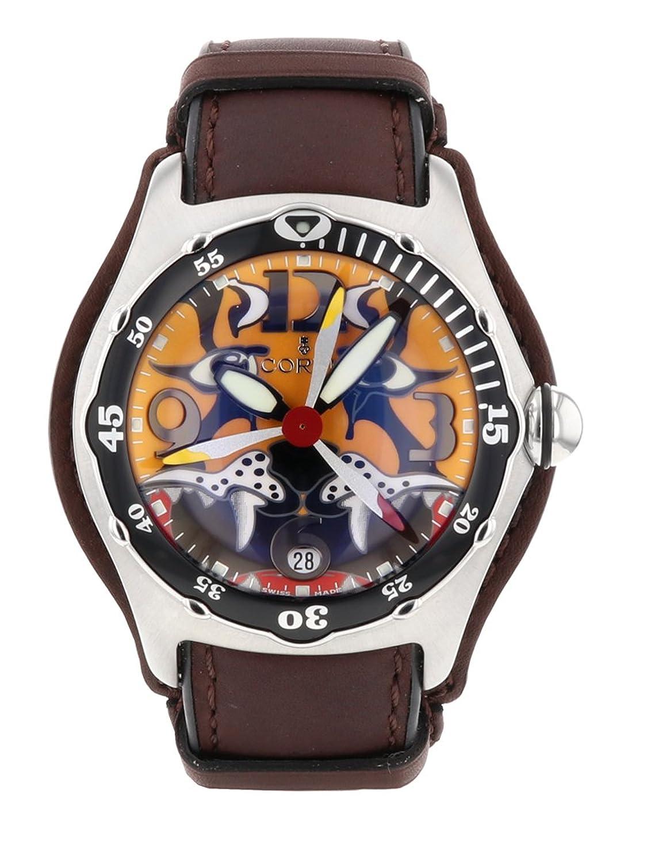 [コルム] 腕時計 CORUM 082.181.20/F701 バブル ダイブ ボンバー2004 SS/レザー 自動巻き タイガーダイアル [中古品] [並行輸入品] B07B3R37J4