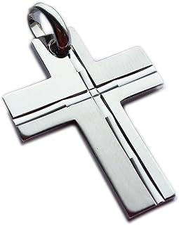 ASS 925 Silber Kreuzanhänger Anhänger Kreuz matt-glänzend, diamantiert