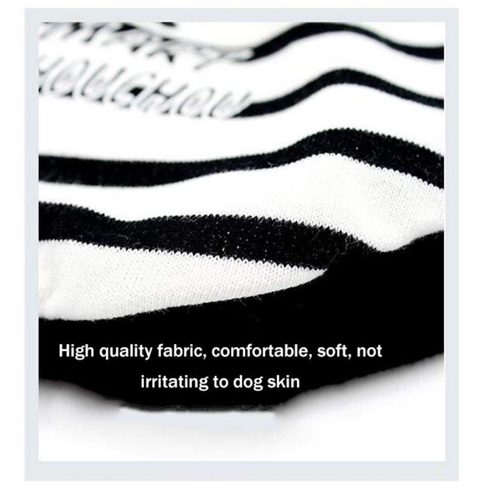 JHC Abbigliamento per per per Cani Casual Felpa con Cappuccio A Maglia Bianca E Nera Abbigliamento da Compagnia Adatto per Busto 37-45cm, M,neroandbiancastripes-S 9a9296