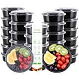 E-Gtong [30 Pack] Meal Prep Containers(30OZ) - Food Container with Lids, BPA Free Food Storage Bento Box, Stackable & Reusable Lunch Boxes - Microwaveable, Freezer and Dishwasher Safe, Portion Control