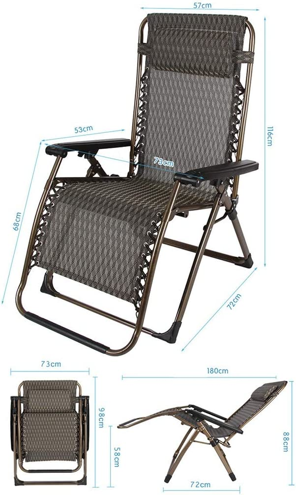 XITER Chair Recliners Folding Chair Garden Chair Lunch Break Chair Lazy Chair Easy Chair Multifunction Adjustable Sun Lounge Chair (color : V) T